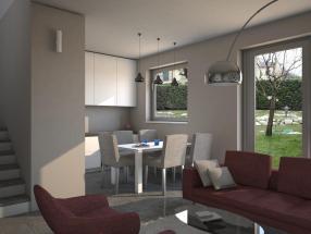 Una casa nuova di 3 locali con mansarda e giardino privato in Vendita